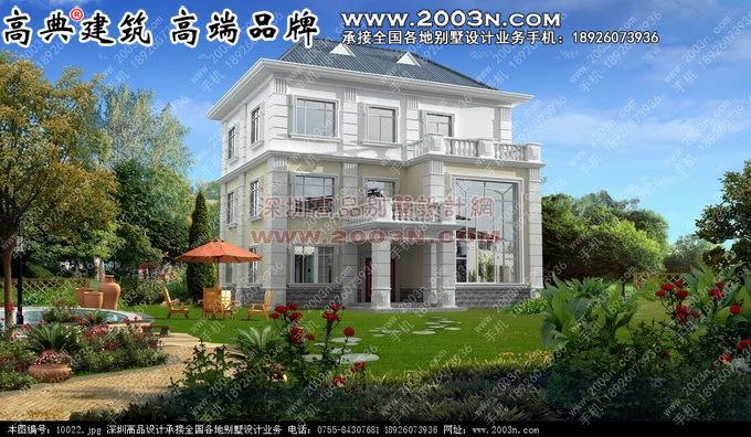 三层别墅外观效果图 别墅设计图纸及效果图