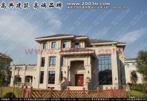 东江湾A户型别墅设计效果图河源市最豪华别墅房两图纸间半设计图片