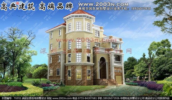 别墅外观设计四层外观效果图