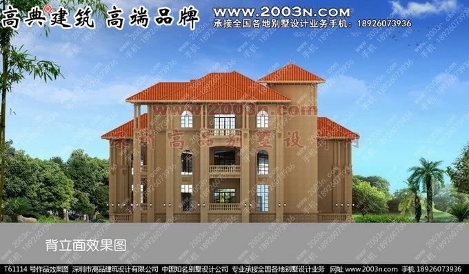 深圳高品设计t61114号三层大全效果图别墅及别墅300平方设计实景欧式图片