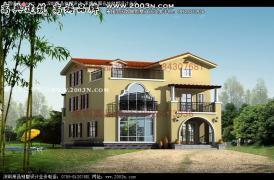 房屋设计别墅及效果图图纸|大全树木设计景观设计立面农村表现线稿图片