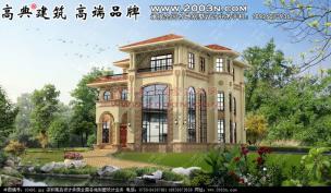 别墅三层字体设计四层别墅农村设计共16豪宅金设计图片图片