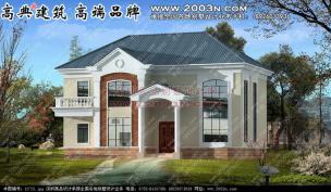 外墙喷涂料别墅农村别墅 别墅设计外观效果图 别墅设计图纸及高清图片