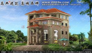 欧式别墅外观设计四层别墅设计图 图号:t61129a.jpg图片