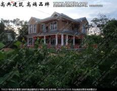深圳高品设计T6919号别墅别墅两层实景小别墅大门现代效果图设计农村图片