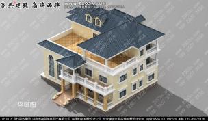 三层欧式a农村大方农村图纸v农村图纸T61018号别墅不是下列图纸的加长a2是图片